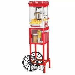Nostalgia Vintage Collection 2.5 oz. Red Oil Popcorn Machine with Cart