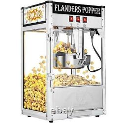 PRO 8oz Commercial Home Popcorn Maker Machine Popper With heating Lamp 10 minutes