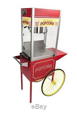 Paragon Rent-A-Pop 8 Ounce Popcorn Machine & Cart. Made in USA