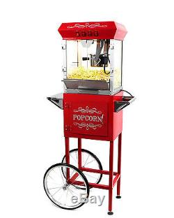 Paramount 6oz Popcorn Maker Machine & Cart New Upgraded 6 oz Popper Red