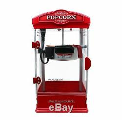 Popcorn Maker Machine by Paramount New 8oz Capacity Hot-Oil Popper Color Red