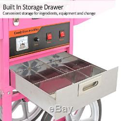 Popcorn Maker Retro Machine & Cotton Candy Floss Making Electric Machine Carts