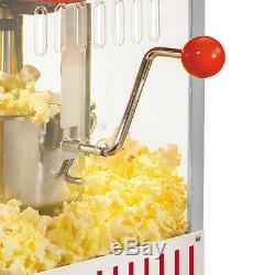 Popcorn Popper Machine Maker Kettle Vintage Old Fashioned Stainless Steel Red