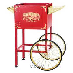 Red Cart for Larger up to 8 oz. Roosevelt Style Popcorn Machines