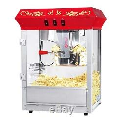 Red Foundation Electric Popcorn Popper Machine, 8 Ounce Table Counter Top