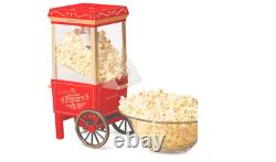 Retro Popcorn Maker Machine Old Fashioned Hot Air Pop Corn Commercial Red 12 Cup