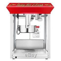 Superior Red 8oz Hot & Fresh Countertop Style Popcorn Popper Machine, 8 Ounce