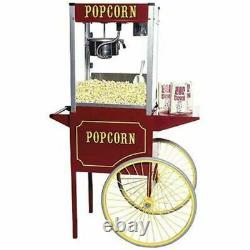 Theater Pop 16 Ounce Popcorn Machine With Large Cart Combo