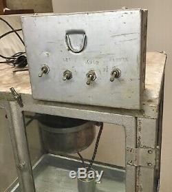 Vintage ADVANCE hot french fried POPCORN MACHINE-3 porcelain signs Movie Theater