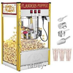 Vintage Popcorn Machine Maker Popper With Cart 8oz Kettle Capacity Theater Popper