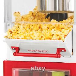 Vintage Red Popcorn Cart Machine Stand Maker Popper Home Movie Room Theater