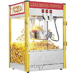 Vintage Style Popcorn Machine Maker Popper Countertop with 8-Ounce Kettle