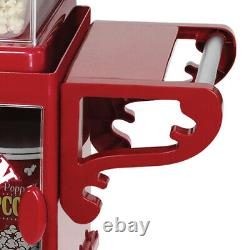 West Bend Compact Popcorn Machine & Cart Onboard Storage Serving Tray Red