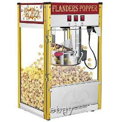 ZOKOP 8OZ Commercial Popcorn Maker Machine Pop Corn Popper Tempered glass Red