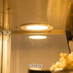 ZOKOP Commercial Countertop Popcorn Machine 8oz Corn Popper Tempered Glass Red